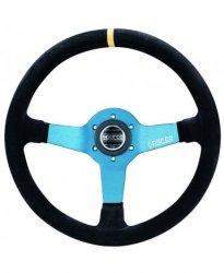 Руль спорт Sparco L 550 вынос 63мм замша 350мм. Три спицы.