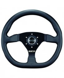 Руль спорт Sparco L 360 вынос 36мм кожа 330мм. Три спицы.