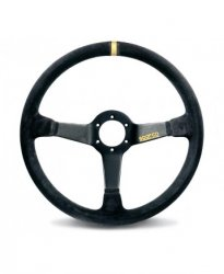 Руль спорт Sparco R 368 вынос 65мм кожа 380мм. Три спицы.