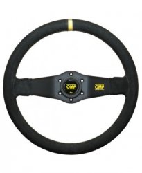 Руль спорт OMP Ralli вынос 90мм. кожа 350мм. Две спицы.